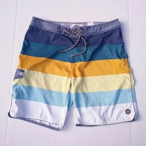 Rip Curl Striped Swim Surf Board Shorts Sz 36